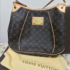 Louis Vuitton Galliera Pm in monogram 100% authentic LV monogram bag. Pre owned but in great condition. Still light honey patina. The exterior is free from holes or tears. The top  lining has some signs of wear like light stains and also in the corners. The strap is clean. Interior has few pen marks, still clean. Made in USA date code: SD5009. Will post more photos on a different listing. Louis Vuitton Bags Shoulder Bags