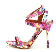 Rosita 3 Fuchsia Multi Ankle Strap Dress Sandals