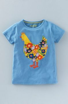 Mini Boden Embroidered Tee