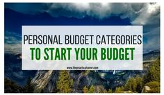 Some people want to budget but don't know what personal budget categories their expenses should fall under. This post will help you understand where to