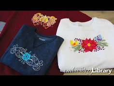 Embroidering on Sweatshirts - YouTube