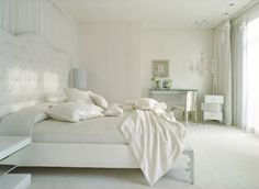 Enjoy the serenity and calmness of a white bedroom design