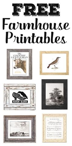 Who doesn't love free printables? Grab free farmhouse printables including farmhouse artwork, vintage ads, magazine covers, and even awesome old signs Farmhouse Artwork, Farmhouse Decor, Vintage Farmhouse, Farmhouse Style, Country Decor, Coastal Farmhouse, Country Homes, Rustic Decor, Diy And Crafts