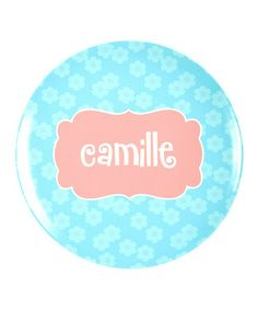 Another great find on #zulily! Flower Crest Personalized Plate by Lima Bean Kids #zulilyfinds