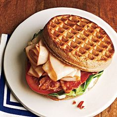 Chicken and Waffle Sandwiches | CookingLight.com