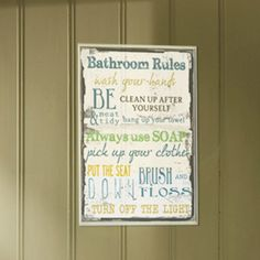 Stupell Industries Bathroom Tall Rectangle Textual Art Wall Plaque - kids bathroom