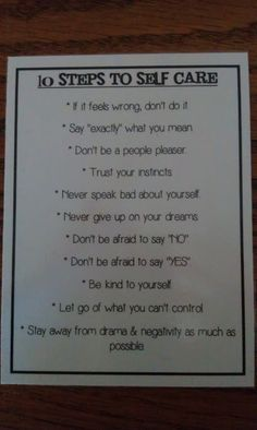Ten Rules for self-care shared by Alicia, a wife of a man working on recovery from sexual addiction