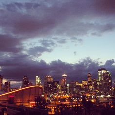 The city at night. #throwbackthursday #calgary #igerscanada - @throughtheselens- #webstagram