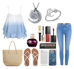 """""""Summer❤️"""" by star-mannings on Polyvore featuring Paige Denim, Target, Billabong, Forever 21, Smashbox and Yves Saint Laurent"""
