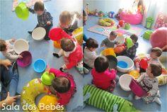 A semana passada os bebés passaram por uma experiência muito engraçada com um objeto comum de todos nós... o alguidar! Aliás não foi só um,...