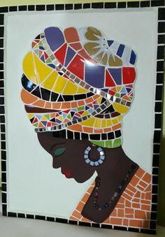 Mosaic Garden Art, Mosaic Diy, Mosaic Crafts, Mosaic Projects, Mosaic Designs, Mosaic Patterns, Stone Mosaic, Mosaic Glass, African Art Paintings