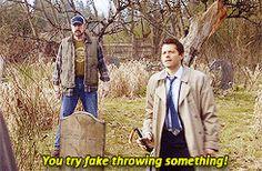Gif set, click through <3  supernatural Jensen Ackles Misha Collins Jared Padalecki Jake Abel supernatural cast spn bloopers