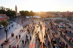 Watch sunset in Jemaa El Fna in Marrakech