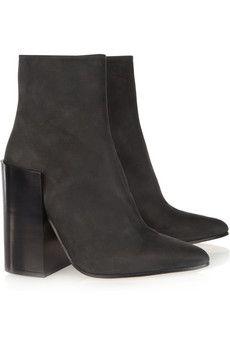 Acne tess nubuck ankle boots black