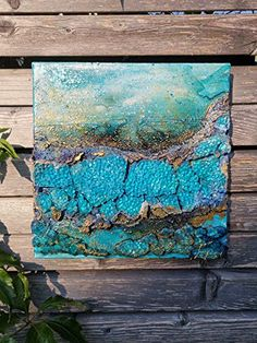 Unterwasser Attersee (Serie Blue Times): Amazon.de: Handmade Night, Artworks, Heart Pictures, Abstract Landscape, Impressionism, Original Paintings, Paintings On Canvas, Blue Green, Art Pieces