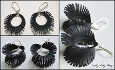 Crafty Lady Abby: JEWELRY TUTORIAL: Upcycled Bike Tube Earrings