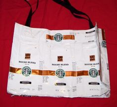 Purse Spotlight from Etsy Recyclers Guild Team : Tote bag made from foil coffee bags.