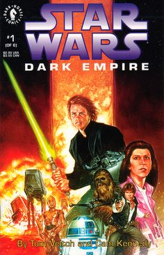 """Star Wars """"Dark Empire"""" 1 - Tom Veitch and Cam Kennedy - Cover by Dave Dorman"""