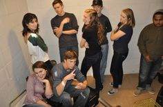 """Behind the scenes at the safe house! We had a mix of actors and film kids pretending to be actors, and they were all total babes. Production photo from """"The Radical Notion of Gene Mutation."""""""
