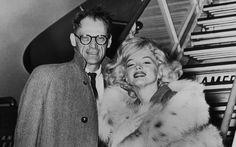 Playwright Arthur Miller and Marilyn Monroe, 1956.