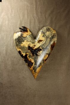 Wooden Heart Wood Carving Personalized by TreeWizWoodCarvings, $425.00