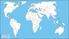 World Europe and Africa centered : free map, free blank map, free outline map, free base map : coasts, latitude Blank World Map, Africa Outline, Free Maps, Europe, State Map, Horror Movies, American History, Diy And Crafts, Coast