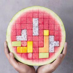 "43k Likes, 436 Comments - J o s e (@naturally.jo) on Instagram: ""Fruit Tetris 😆🍉💖 Yay or Nay? ✨"""