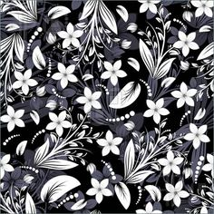 Black And White Floral Pattern Illustrations