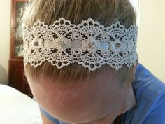 Diy Ribbon in lace headband