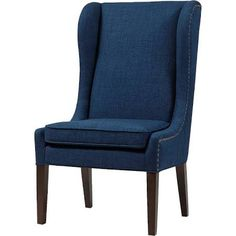 Madison Park Garbo Captains Dining Chair in Navy