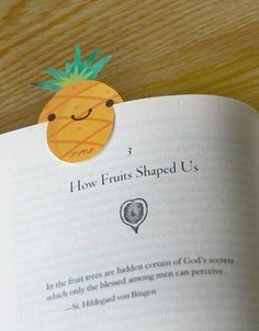 A pineapple book mark makes life sweet