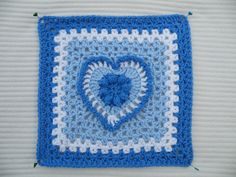 Ravelry: Project Gallery for Grandma's Heart Square pattern by Carola Wijma