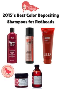 Best #ColorDepositing Shampoos for #Redheads