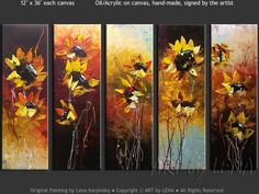 sunflower abstract paintings