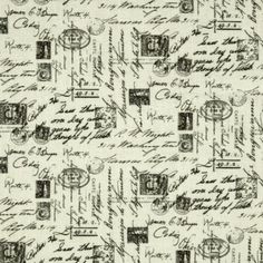 Timeless Treasures Letters from Paris Script Cream Fabric By The Yard: Designed for Timeless Treasures Fabrics this cotton fabric is perfect for quilting apparel and home decor accents. Colors include cream and black. Vintage Paper, Vintage Ads, Vintage World Maps, Vintage Sewing, Letter Patterns, Quilt Patterns, Decoupage, Timeless Treasures Fabric, Paris Map