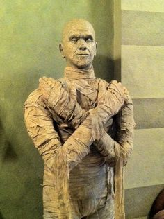 "I've been wanting to build a life size prop for a long time so I decided to build ""The Mummy"" based on the Boris Karloff movie from 1932. I really want to thank Lauriebeast for her absolutely wonderful tutorial ""The Bride"". She is so amazing! That helped me sculpt the head and helped me get started on the body. I am really grateful for all the wonderful tutorials out there because I really don't enjoy trying to engineer these things out.  Anyway, her"