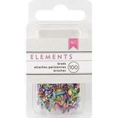 Decorative Brads 83990: American Crafts Mini Brads 100 Count Round Brights -> BUY IT NOW ONLY: $69.8 on eBay!