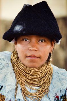 Indian girl from mainland Ecuador, Galapagos Islands