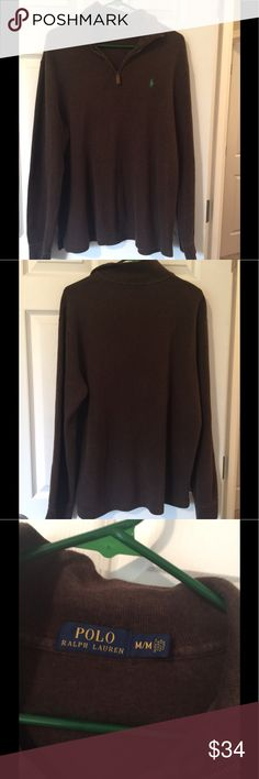Men's Polo RL Pullover Sweatshirt M Brown warm sweater sweater Pullover  Size M Excellent clean condition Polo by Ralph Lauren Sweaters
