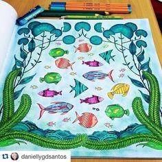 Instagram media florestaencantada2 - Encerrando por hoje com esse colorido lindo da @daniellygdsantos  Tenham uma ótima noite amores  _______________________________________ #jardimsecreto #florestaencantada #oceanoperdido #colorindo #coloringbook #art #criatividade #lostocean #johannabasford