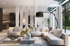 Contemporary Interior, Luxury Interior, Modern Interior Design, Apartment Interior, Living Room Interior, My Living Room, Home And Living, Villa, Open House Plans