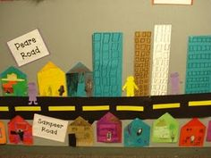 My community display - maybe go for walk around school to map first? Send homework home for parents to help map home street?