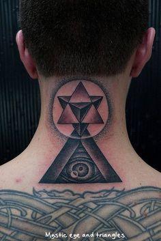 Eye of Providence and Tetragrammaton Tattoos By Thomas Hooper