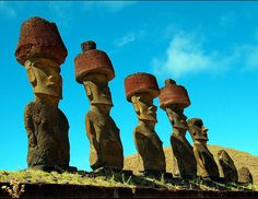 Spectacular Places: The Moais of the Ahu Nau Nau in Easter Island, Chile
