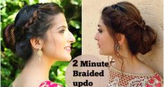 How to Make Half Braided Updo in 2 Minutes  ...