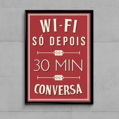 Pôster Wi-Fi. Na Casa Da Joana tem pôsteres lindos para decorar a sua casa.