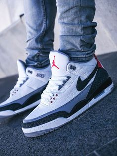 Nike Air Jordan 3 NRG 'Tinker' - – Sweetsoles – Sneakers, kicks and trainers. Nike Air Jordans, Sneakers Nike Jordan, Jordan Shoes Girls, Nike Air Shoes, Jordan Tenis, Jordan Nike, Nike Shoes For Men, Jordans Trainers, Nike Boots