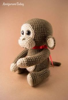 Crochet Toy Patterns Free naughty monkey crochet pattern by Amigurumi Today - Meet a playful naughty monkey Bobo! He likes to play with kids and make new friends. You can carry this amigur Crochet Monkey Hat, Crochet Monkey Pattern, Crochet Sock Monkeys, Crochet Baby Toys, Crochet Amigurumi Free Patterns, Crochet Animal Patterns, Stuffed Animal Patterns, Cute Crochet, Crochet Animals