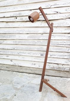 Wooden floor Lamp by PikoHandcrafted on Etsy