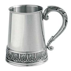 Leaves Tankard (Small), Celebration - A wonderfully ornate and detailed tankard featuring romantic lycanthus leaves at its base against a simple, elegantly finished body, the tankard makes a worthy gift for any celebration. #pewter #RoyalSelangor